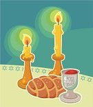 Jewish Sabbath,Challah,Table,Judaism,Candle,Candlestick Holder,Food,Celebration,Wedding,Alcohol,Israeli Culture,Meal,Bread,Flame,Red,Illuminated,Backgrounds,Praying,Religion,Group of Objects,Old-fashioned,Blue,Still Life,Spirituality,Tablecloth,Friday,Wine,Jewish Ethnicity,Dinner,Wineglass,Ilustration,Ceremony,Night,No People,Holiday,Middle Eastern Culture,Green Color,Cultures,Brass,Two Objects