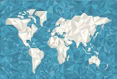World Map,Earth,Globe - Man Made Object,Vector,Crumpled,Backgrounds,crumpled paper,Paper,Blue