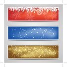 Backgrounds,Banner,Winter,Abstract,Snow,Christmas,Holiday,Gold,Light - Natural Phenomenon,Snowflake,Blue,Vector,Celebration,Greeting,Red