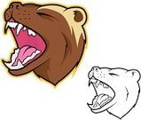 Badger,Sports Team,Sign,Wolverine,Bear Cat,Mascot,Sport,Anger,Confrontation,Animal Teeth,Computer Graphic,Aggression,Bear,Carnivore,Furious,Snarling,Fur,Wildlife,Sketch,Roaring,Howling,Animal,Drawing - Art Product,Snout,Stray Animal,Cartoon,Ilustration,Vector,Barking