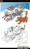 Coloring,Vector,Humor,Playful,Domestic Cat,Kitten,Mascot,Cartoon,Pets,Ilustration,Animal,Drawing - Art Product,Coloring Book,Whisker,Offspring,Characters,White,Tail,Feline,Pencil,Clip Art,Tabby,Cheerful,Crayon,Happiness,Black Color,Running