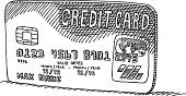 Credit Card,Sketch,Black And White,Drawing - Art Product,Line Art,Single Object,Finance,Doodle,E-commerce,Paying,Black Color,Credit Card Purchase,Business,Ilustration,Vector,Shopping,White,Banking,Design Element,Consumerism,Commercial Activity,Symbol,Computer Chip,hand drawn,Clip Art,Plastic,Computer Graphic,Isolated On White,Home Shopping,No People,Retail,Transparent,Simplicity,Horizontal,black-and-white,Pen And Marker