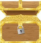 Pirate,Trunk,Vector,Single Object,Treasure,Heavy,Abundance,Coin,Obsolete,Crate,Ancient,Iron - Metal,Trophy,Isolated,Open,Lock,Colors,Padlock,Safe,Metal,Gold,Keyhole,The Past,Wealth,Discovery,Wood - Material,Vibrant Color,Large,Storage Compartment,Antique,Illustration Technique,Currency,Success,Luck,Case,Full,Finance,Shiny,Mystery,Gold Colored