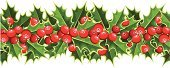 Holly,Christmas,Frame,White Background,Isolated,Garland,Holiday,Berry Fruit,Branch,Mistletoe,Seamless,Leaf,Season,Symbol,Vector,Plant,Ilustration,New Year,White,Backgrounds,Repetition,Nature,Horizontal,Flower,Winter,Decoration,Cultures,In A Row,Design Element,Red,Green Color,Design