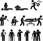 CPR,Symbol,Physical Injury,Crutch,Paramedic,People,Baby,Silhouette,Urgency,Men,Stretcher,Healthcare And Medicine,Speed,Black Color,Vector,Assistance,Choking,Rescue,Suffocated,Bandage,Help,Human Cardiopulmonary System