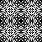 Black And White,Pattern,Seamless,Geometric Shape,Backgrounds,Wallpaper Pattern,Vector,Arabic Style,Computer Graphic,Print,Tile,Ornate,Decor,Style,Symmetry,Abstract,In A Row,Silk,Decoration,Old-fashioned,Shape,Simplicity,Repetition,1940-1980 Retro-Styled Imagery,Textured Effect,Modern,Design,tileble,tile-able,Textile,Elegance,Ilustration,Fashion,Retro Revival,Backdrop,modular