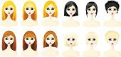 People,Symbol,Human Body Part,Human Face,Human Hair,Hairstyle,Computer Icon,Adult,Illustration,Cartoon,Females,Women,Vector,Animated Cartoon,Icon Set,Avatar