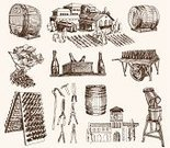 Wine,Wine Bottle,Barrel,Retro Revival,Winemaking,Vine,Old-fashioned,Sketch,Industry,Grape,Bottle,Warehouse,Drink,Ilustration,Gardening Equipment,Action,Alcohol,Work Tool,Rowing,Antique,Vector,Aging Process,Isolated,Ripe,Champagne,Business,Cellar,Classical Style,Image,Design,Order,Rack,Computer Graphic,Soda,Tunnel,Group of Objects,Abundance,Alcohol,Large Group of Objects,Fermenting,Backgrounds,Cultures,Shape,Doodle,Glass - Material,Winery
