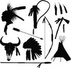 North American Tribal Culture,Native American,Teepee,Bow and Arrow,Silhouette,Indigenous Culture,Arrow,Headdress,Hunting,Feather,Seminole Indian,Tribal Chief,Tomahawk,Cherokee,Spear,Bow,Animal Skull,Vector,Arrowhead,Warrior,Quiver,Ilustration,Multiple Image,Group of Objects,Residential Structure,Hunting Equipment,Arrangement,Collection,Bull Head,Wigwam,Set,Black And White,Bull Skull,Apache,Knife