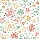 Snowflake,Pattern,Doodle,Backgrounds,hand drawing,seamless pattern,Christmas,Ilustration