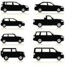 Car,Silhouette,Symbol,Computer Icon,Profile View,Land Vehicle,Mini Van,Icon Set,Traffic,Transportation,Driving,Modern,Ilustration,Car Rental,Vector,Black And White,Mode of Transport,Small,Isolated,Side View,Sports Car,Hatchback,Generic,No People,White Background,Collection,Set,City Car,Domestic Car,family car,Station Wagon,Hybrid Vehicle,Wheel,Isolated On White,Compact Car