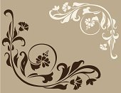 Flower,Vector,Vine,Floral Pattern,Scroll,Brown,Frame,Swirl,Ornate,Angle,Design,Leaf,Computer Graphic,Ilustration,Creativity,Elegance,decorative ornament,Two Objects,floral ornament,Clip Art,White,Series,Isolated,Beautiful,No People,Right Angle,Illustrations And Vector Art