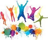 People,Multi Colored,Jumping,Silhouette,Spray,Group Of People,Teenager,Action,Dancing,Abstract,Joy,Women,Music,Party - Social Event,Computer Graphic,Music Festival,Ideas,Color Image,Ilustration,Celebration,Happiness,Grunge,Vector,Positive Emotion,Lifestyles,Orange Color,Men,Design,Enjoyment,Style,Emotion,Nightlife,Young Adult,Yellow,Image,Isolated,Entertainment,Green Color,Disco Dancing,Blue,Teenage Girls,Holiday,Pink Color