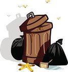 Garbage Can,Garbage,Industrial Garbage Bin,Can,Bag,Unpleasant Smell,Open,Vector,Unhygienic,Ilustration,Toxic Substance,Rudeness,Plastic Bag,Container,Garbage Dump,Clip Art,Environment,Insect,Recycling,Pollution,Fly,Full,Metal,Dirty,Plastic