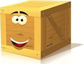Crate,Box - Container,Characters,Wood - Material,Cheerful,Freight Transportation,Happiness,Cartoon,Nail,Delivering,Lumber Industry,Timber,Ilustration,Human Eye,Single Object,Package,Business,Solid,Store,Isolated,Square Shape,Shopping,Backgrounds,Smiling,Vector,Cube Shape,Friendship,Closed,Retail,Market,Human Mouth,Arrow,Article,Gift,Container,Mascot,Plank,Banner,Mail,Square