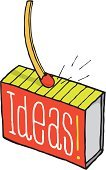 Matchbox,Success,Ideas,Inspiration,Imagination,Sparks,Spark,Box - Container,Match,Lighting Equipment,Cartoon,Pen And Marker,Light - Natural Phenomenon,Ilustration,Vector,Text,Concepts,Creativity,Action,Matchstick