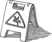 Drawing - Art Product,Danger,Black Color,Symbol,Vector,Ilustration,Black And White,Sketch,Warning Sign,Doodle,Safety,Single Object,Line Art,Reminder,Slippery,No People,Design Element,Square,Isolated On White,Wet Floor,Sign,black-and-white,hand drawn,Clip Art,White,Transparent,Slippery Sign,Simplicity,Care,Computer Graphic
