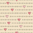 Love,Seamless,Simplicity,Heart Shape,Pink Color,Square,Repetition,repeating pattern,Ilustration,Vector,Swirl,Cute
