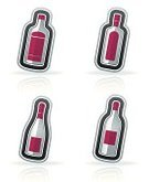 Glass - Material,Blue,Gray,Pink Color,Sign,Symbol,Bottle,Alcohol,Wine,Red,White,Wine Bottle,White Background,Drink,Vector,Gin,White Wine,Red Wine,Whiskey,Alcohol