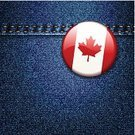 Clothing,Sign,Badge,Canada,Flag,Old-fashioned,Textured Effect,Leaf,Material,Symbol,Denim,Red,Bright,Blue,Stitch,Cotton,Textile,Pattern,Textured,Vector,Jeans,Backgrounds,Canadian Culture,Retro Revival,Vibrant Color,Navy Blue,Maple Tree,Shiny,Seam,Multi Colored