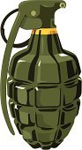 Hand Grenade,Vector,Equipment,Danger,Rebellion,War,Weapon,Military,Small,Bomb,Marines,Explosive,Single Object,Ilustration,Camouflage