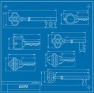 Blueprint,Key,Vector,Security System,Lock,Open,Security,Variation