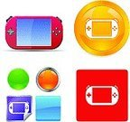 Leisure Games,Mobility,Technology,Electrical Equipment,Ilustration,Gold Colored,Leisure Activity,Electronics Industry,Desk Toy,vector icons,Portable Information Device,Digitally Generated Image,Shiny,Chrome,Vector,Playing,Recreational Pursuit,Interface Icons,Clip Art,Playstation Portable,Blue,Green Color,Computer Graphic,Yellow,Red,Pink Color,Label