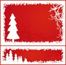 Christmas,Frame,Holiday,Snow,Coniferous Tree,Art,Modern,Ilustration,Copy Space,White,Backgrounds,Happiness,Red,Tree,Arts And Entertainment,Holidays And Celebrations,Visual Art,Christmas,Illustrations And Vector Art,vectorized,Vector,Celebration,Computer Graphic,happy holiday,Style