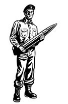 Missile,Black And White,Army,Illustration Technique,Adult,Battlefield,Violence,Weapon,War,Patriotism,One Person,Adults Only,Military Uniform,Army Soldier,People,One Man Only,Only Men,Line Art,Men,Ilustration