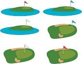 Golf,Putting Green,Golf Course,Sand,Vector,Sand Trap,Trap,Tee,DNA,Flag,Ball,Water,Image,Teeing Off,Rough,Organized Group,Slice,Travel Locations,illustrtion,Hobbies,Sports And Fitness,Relaxation,Time,Disco Dancing,Concepts And Ideas,Nightclub