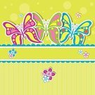 Flower,Backgrounds,Single Flower,Butterfly - Insect,template,Pattern,Insect,Greeting Card,Vector,Ilustration,Postcard