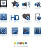 Silhouette,Interface Icons,Setting,Control,Symbol,Reflection,Film,user interface,MP3 Player,Multimedia,Technology,Vector,Series,High-definition Television,Computer Icon,Playing,Film Reel,Music,Star Shape,Set,Shiny,Volume,Green Color,full screen,Menu,Sound,Sign,Play,Design Element,Speaker,Option Key,Adulation,Abstract,Collection,Control Panel,Entertainment,Movie,Resting,Web Page,Color Gradient,Red,icons set,Black Color,Icon Set,Visual Screen