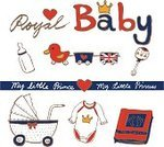 Baby,Nobility,British Culture,English Culture,UK,Photo Album,Crown,Fashion,Sketch,Prince,Princess,Milk Bottle,Heart Shape,England,royal family,Toy,Baby Cart