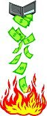 Spending Money,Money to Burn,Currency,Burning,Debt,Fire - Natural Phenomenon,Losing Money,Finance,Dollar,Wallet,Tax,Paper Currency,Wealth