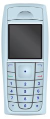Mobile Phone,GSM,Telephone,Vector,Text Messaging,Front View,Keypad,Digital Display,Communication,Technology,Mobility,Message,Liquid-Crystal Display,Wap