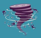 Business,Currency,Storm,Tornado,Finance,Businessman,Wealth,Risk,Symbol,Bringing Home The Bacon,Creativity,Spiral,Speed,Money to Burn,Paper Currency,Isolated On White,US Currency,Commercial Activity,Jackpot,Consumerism,Emergencies And Disasters,Ilustration,Motivation,Illustration Technique,Currency Symbol,Humor,Vector,Cyclone,Imagination,Prosperity,Abundance,Design,No People,Danger,Cloud - Sky,Destruction,Ideas,US Paper Currency,Design Element,creative element,Digitally Generated Image,Spinning,graphic element,Swirl,Weather,Natural Disaster,Isolated,Concepts,Recession,Inspiration