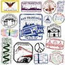 San Francisco County,Passport,California,Cable Car,Postage Stamp,Rubber Stamp,Lombard Street,Golden Gate Bridge,Chinatown,Old-fashioned,Retro Revival,Vector,San Francisco - Philippines,Vacations,Flag,Famous Place,Ilustration,1940-1980 Retro-Styled Imagery,Travel,Journey