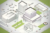 Isometric,Hospital,Campus,Built Structure,Building Exterior,Map,Healthcare And Medicine,Office Building,Three-dimensional Shape,Three Dimensional,Clinic,Vector,Urban Scene,Medevac,Real Estate,Aerial View,Modern,Parking Garage,Model,Sparse,Green Color,Ambulance,Ilustration,Traffic,Parking Lot,Garage,Helipad,Car,Land,Solar Panel,Helicopter,High Angle View,Land Vehicle,Emergency Services Vehicle,Intricacy,Entrance,Entrance,Bird's Eye View,Multi-parking,medical center,Postmodern,Suburb,Architecture,Blue