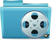 Video Still,Video,Movie Theater,White Background,Spool,File,No People,Archives,Isolated,Film Reel,Multimedia,Blue,Data,Isolated On White,Symbol,Sign,Organization,Shiny,Computer Icon