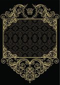 Frame,Gold Colored,Coat Of Arms,Crown,Flourish,Retro Revival,Old-fashioned,filigree,Cartouche,Ornate,Elegance,flourishes,Luxury,Vignette,Sign,Decoration,Corner,Curve,Funky,Copy Space,Insignia,Design,Baroque Style,Majestic,Blank,Swirl,Spiral,Backgrounds,Rectangle,Clip Art,Scroll Shape,Shiny,Yellow,Curled Up,Design Element,Angle,Pattern,Corner,Abstract,Vector