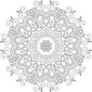 Mandala,Doily,Lace - Textile,Pattern,Vector,Line Art,Ornate,Ilustration,Snowflake,Arabic Style,Circle,Geometric Shape,Floral Pattern,Retro Revival,Decoration,Symmetry,Christmas Ornament,Tapestry,Design,Embroidery,Star Shape,Isolated,Kaleidoscope,Design Element,Abstract
