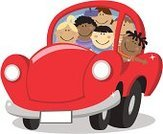 Car,Child,Vector,People Traveling,Inside Of,Offspring,White Background,Travel Destinations,Team,Clip Art,Cultures,Travel,Group Of People,Cartoon,Multi-Ethnic Group,Teamwork