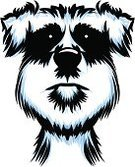 Yorkshire Terrier,Animal Hair,Computer Graphic,Canine,Blue,Black Color,Animal,Fur,Close-up,Modern,Dog,Purebred Dog,Pets,Animal Head,Domestic Animals,Puppy,Ilustration,Cute,Fine Art Portrait,Caricature,Terrier