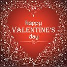 Vector,Heart Shape,Love,Valentine's Day - Holiday,Valentine Card,Square,Red,Plant,Romance,Flower,Tree,Single Word,Floral Pattern,happy valentines day,Ilustration,Ornate,Message,Text