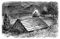 Fishing,Old,Boathouse,Sketch,Only Men,Recreational Pursuit,Men,Satire,Uncomfortable,England,English Culture,Line Art,Wet,Night,Outdoors,Monochrome,19th Century Style,Period Costume,Social History,Problems,History,Communication,Sou'wester,Arguing,British Culture,River,Roof,Traditional Clothing,Equipment,Leisure Activity,Conflict,Image Created 19th Century,Emotion,Activity,Print,UK,Ilustration,Sullen,Dark,Cultures,Black And White,Engraved Image,Engraving,Lake,Sou Wester,Image Created 1850-1859,Sitting,Cold - Termperature,The Past,Fishing Rod,Weather,Cartoon,Rain,Illustration Technique,Drawing - Art Product,Humor