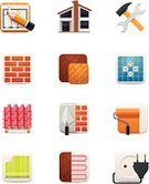 Home Improvement,Symbol,House,Home Interior,Repairing,Apartment,Residential Structure,Icon Set,Stucco,Construction Industry,Plan,Planning,Brick,Roof,Design,Work Tool,Wallpaper,Bricklayer,Plaster,Equipment,Residential District,Real Estate,Industry,Vector,paperhanging,Trowel,Single Object,Tile,Paint Roller,Occupation,Set,Wood Laminate Flooring,Ilustration,Beginnings,Domestic Life,Decoration,Working,Electricity,Wood - Material,Painting,Tiled Floor,Wall,Professional Occupation,Design Element,Service,Outlet,Flooring,Improvement,Floor Heating,Job - Religious Figure,Building - Activity