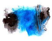 Drop,Ink,Multi Colored,Backgrounds,Spotted,Abstract,Paint,Isolated,Decoration,Blob,Part Of,Watercolor Painting