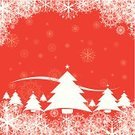 Christmas,Christmas Tree,Snowflake,Tree,Christmas Ornament,Winter,Christmas Decoration,Vector,Backgrounds,Red,Ilustration,Computer Graphic,Color Image,Design,Abstract,Square,No People
