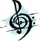 Treble Clef,Sheet Music,Music,Treble,Bass,Vector,Symbol,Isolated On White,Creativity,Computer Icon,No People,Ilustration