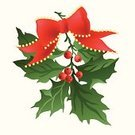 Holly,Christmas,Branch,Clip Art,Leaf,Christmas Decoration,Winter,Season,Bead,Bow,Holiday,White Background,Design,Ribbon,Computer Graphic,Red,Ilustration,Holidays And Celebrations,Green Color,Vector,Vector Ornaments,Multi Colored,Celebration,Vector Backgrounds,Illustrations And Vector Art,Ornate,Berry Fruit,Christmas